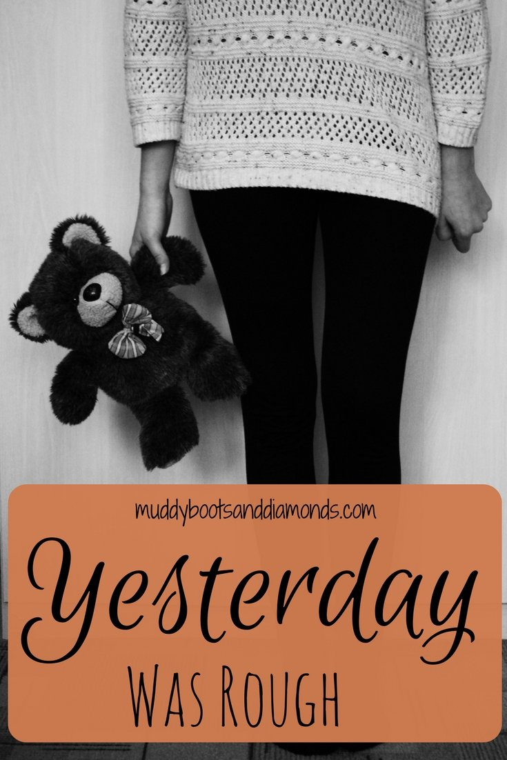 Yesterday Was Rough- A Day in the Life of Motherhood by Muddy Boots and Diamonds