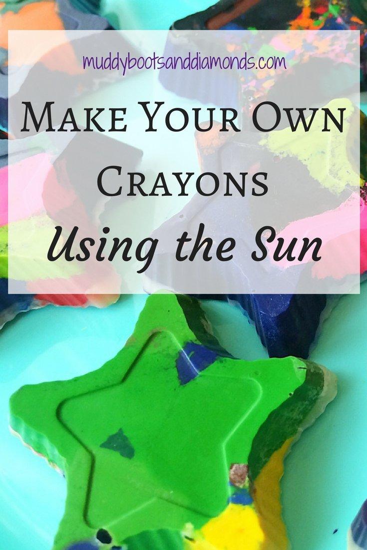 Recycle old crayons using the sun! via muddybootsanddiamonds.com