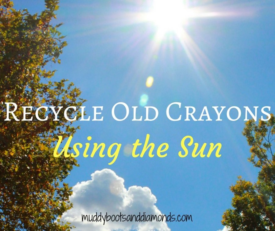 Recycle old crayons using the sun. A fun summertime activity! via muddybootsanddiamonds.com