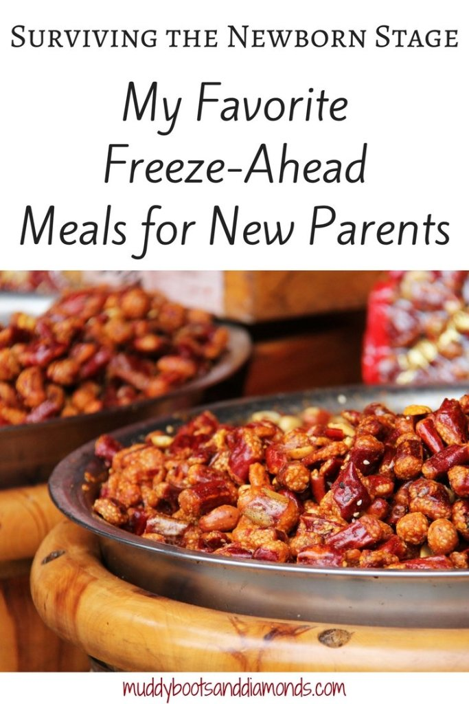 How Meal Prep During Pregnancy Saved My Sanity A list of my favorite freeze ahead meals for new parents via muddybootsanddiamonds.com