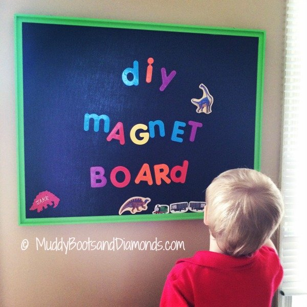 DIY Magnet Board Playroom