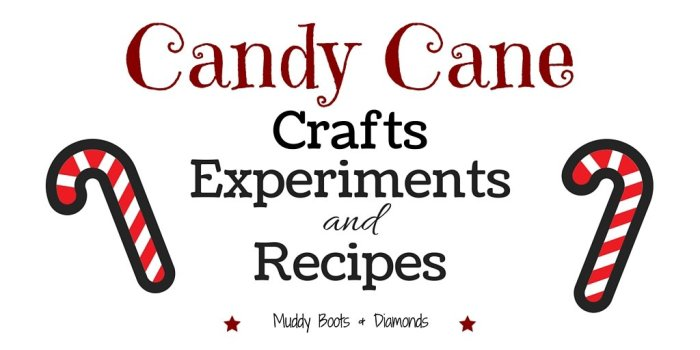 Candy Cane Crafts Experiments and Recipes via muddybootsanddiamonds.com