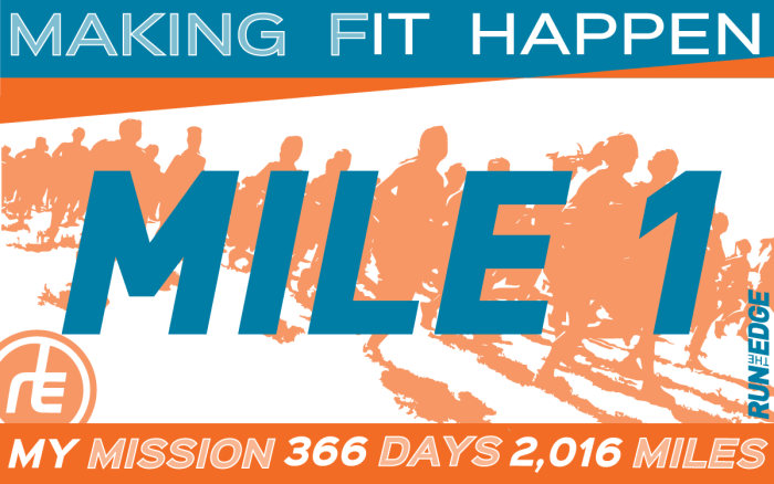 run the year 2016 mile 1
