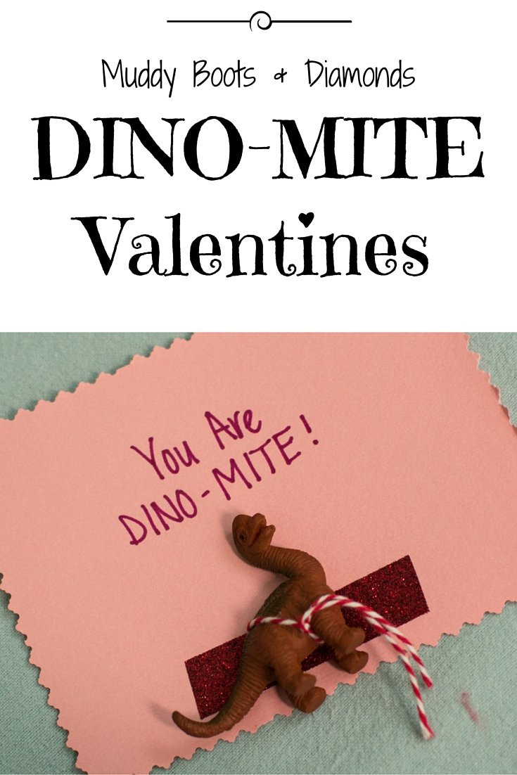 DINO-MITE Valentines via muddybootsanddiamonds.com