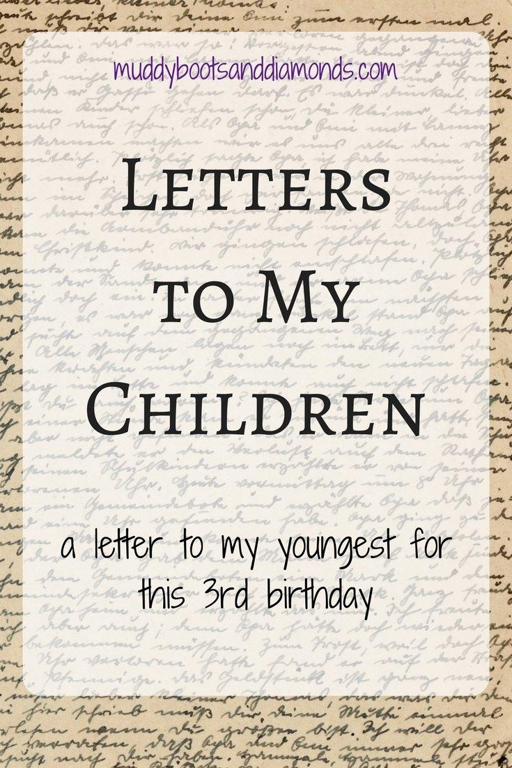 Letters to My Children: L Turns 3 via muddybootsanddiamonds.com