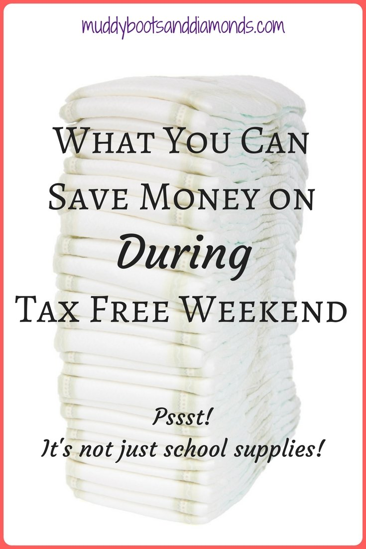 7 things you can buy during tax free weekend that might surprise you | Tax Free Weekend: Not Just for School Supplies via muddybootsanddiamonds.com