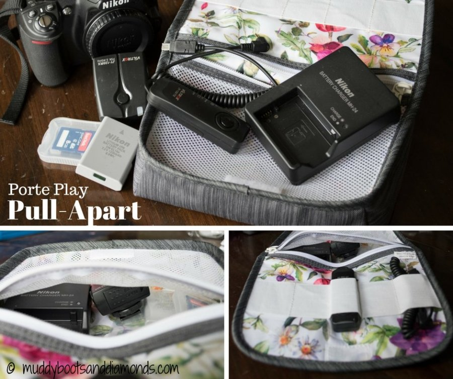 Porte Play Pull-Apart bag is perfect for taking your camera accessories on the go!   Getting Out of Town via Porte Play (review) via muddybootsanddiamonds.com
