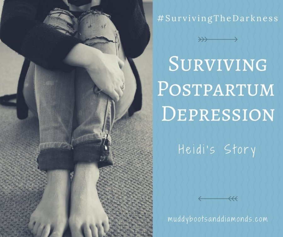 Surviving Postpartum Depression and Borderline Postpartum Psychosis | Surviving the Darkness: Heidi's Story via muddybootsanddiamonds.com