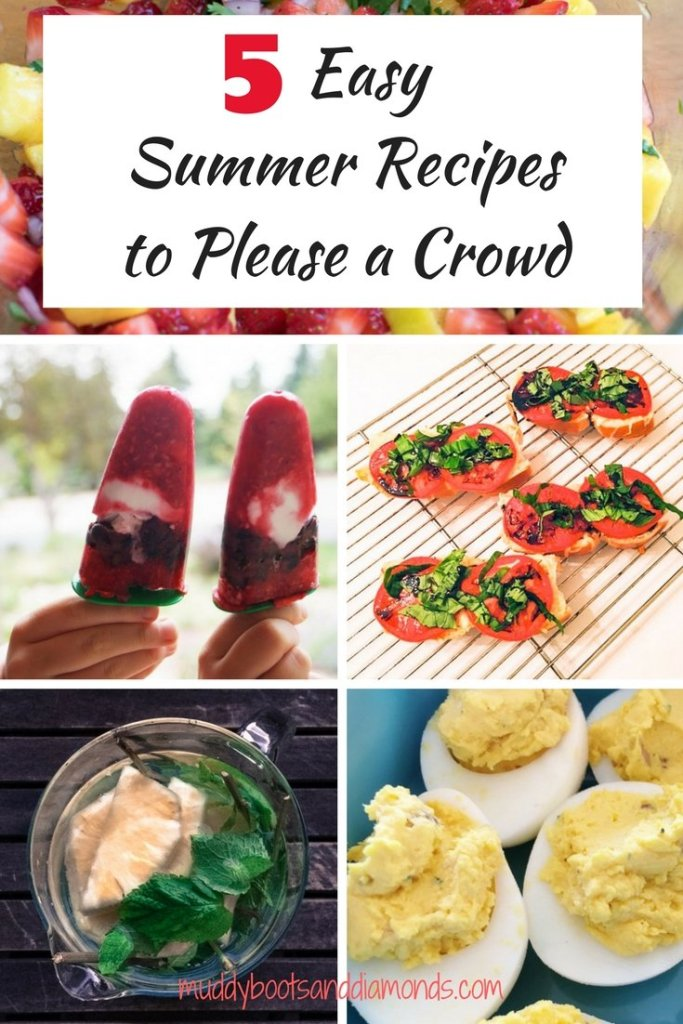 Easy Summer Recipes to Please a Crowd at your next backyard BBQ via muddybootsanddiamonds.com