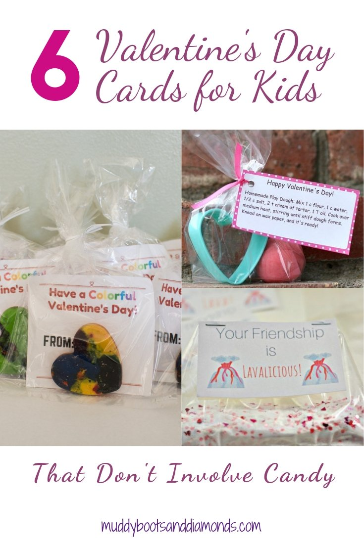 6 Valentine's Day Cards for Kids that Don't Involve Candy via MuddyBootsandDiamonds.com
