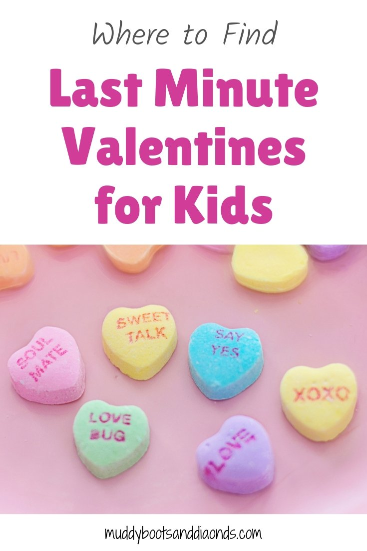 Candy Conversation Hearts Last Minute Valentines for Kids via muddybootsanddiamonds.com