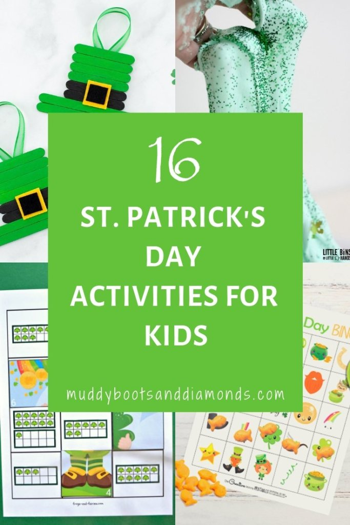 16 St. Patrick's Day Activities for Kids via muddybootsanddiamonds.com
