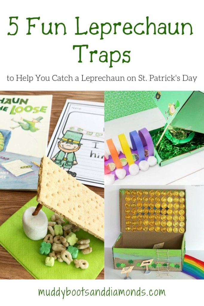 Leprechaun Traps to help you catch a Leprechaun on St Patricks Day via muddybootsanddiamonds.com