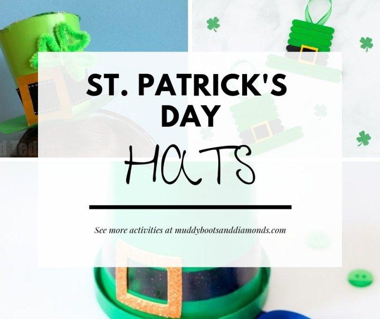 St. Patrick's Day DIY Hats and other activities for kids via muddybootsanddiamonds.com