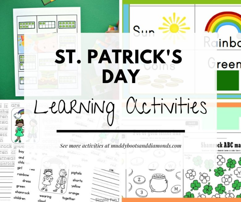 St. Patrick's Day Learning Activities and Crafts for kids via muddybootsanddiamonds.com