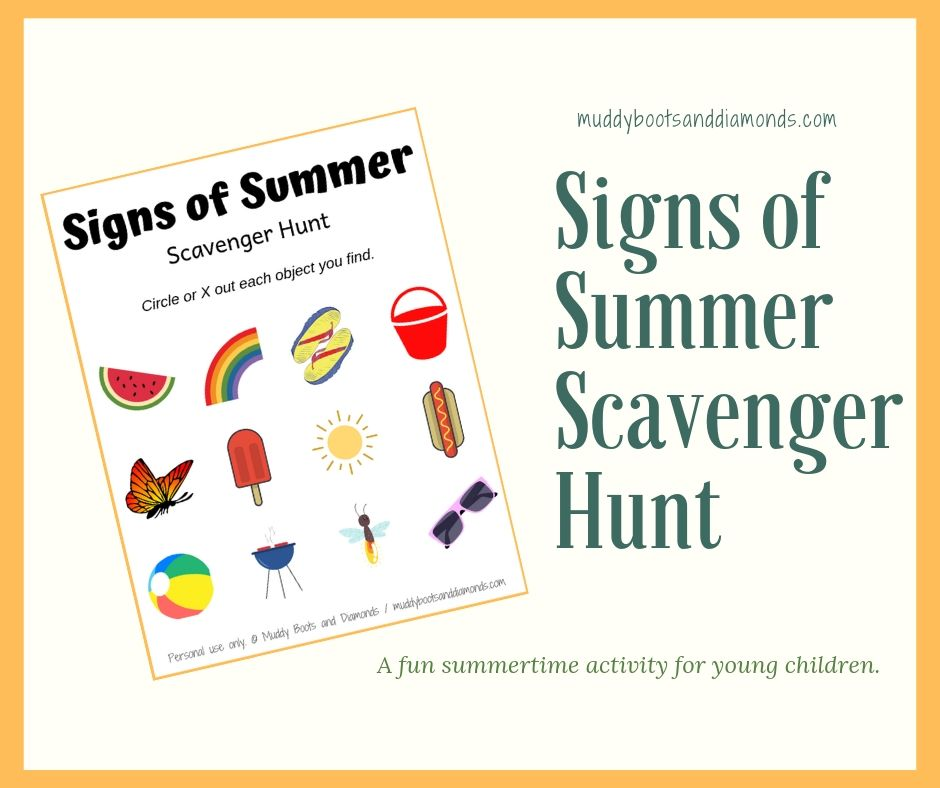 image regarding Family Reunion Scavenger Hunt Printable identified as Summertime Scavenger Hunt Printable Muddy Boots and Diamonds