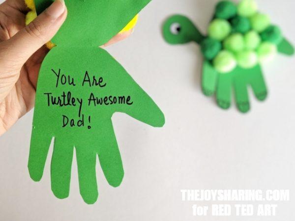 Green Handprint Turtle Craft