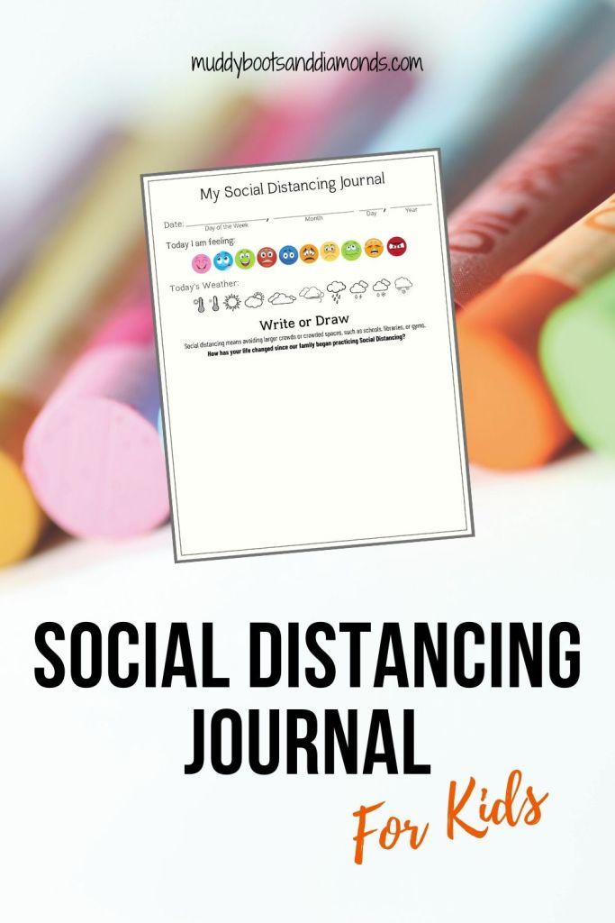 Social Distancing Journal for Kids FREE DOWNLOAD via muddybootsanddiamonds.com