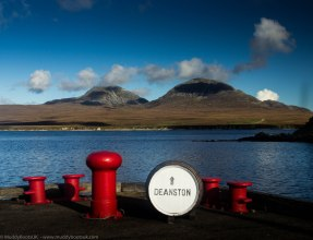 The view of the Paps of Jura from the ditillery pier