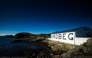 The distillery facing the Sound of Jura