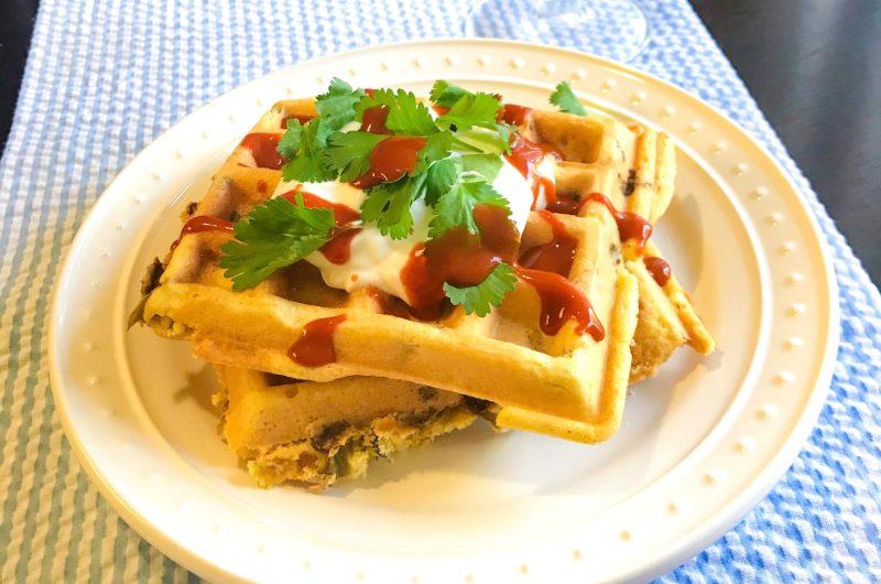 Green Chile Cornbread Waffles