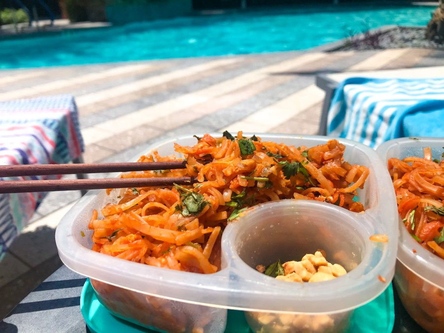 pad Thai by the pool