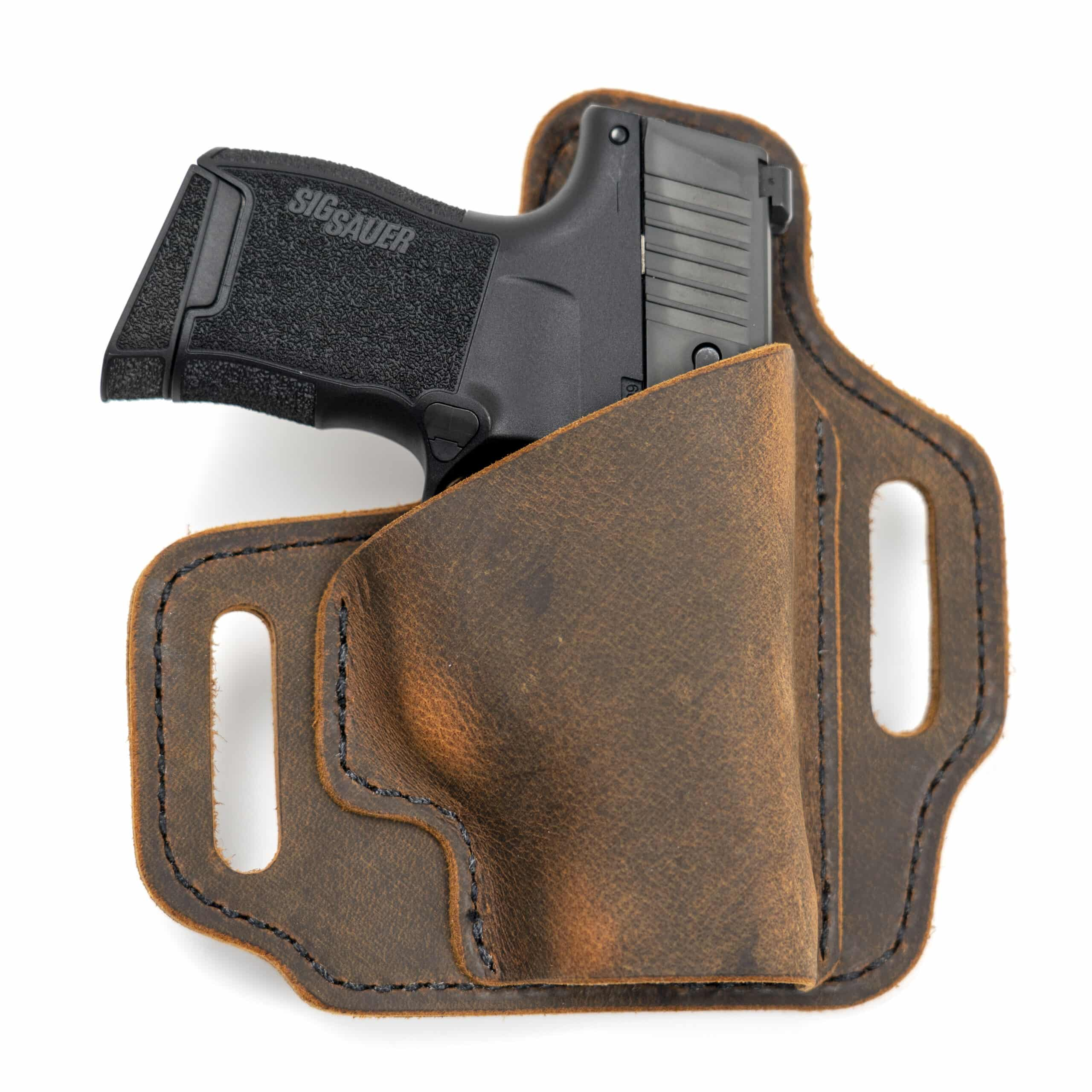 Outside the Waistband Leather Holster - Muddy River Tactical