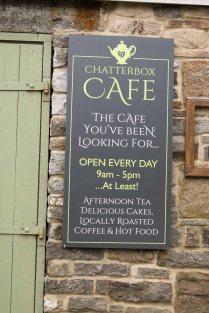 We finish our walk alongside Chatterbox Cafe
