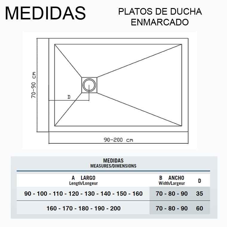 Tamano Plato Ducha.Dimensiones Platos De Ducha Medidas Minimas Novocom Top