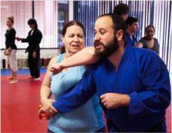 Women Elbowing Self Defense Against Gun