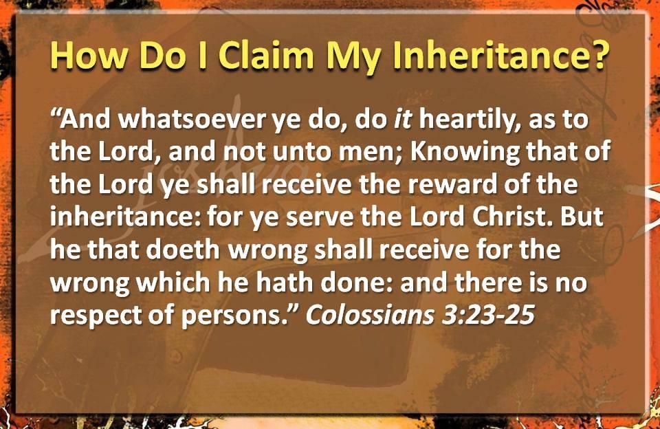 How to Claim Inheritance