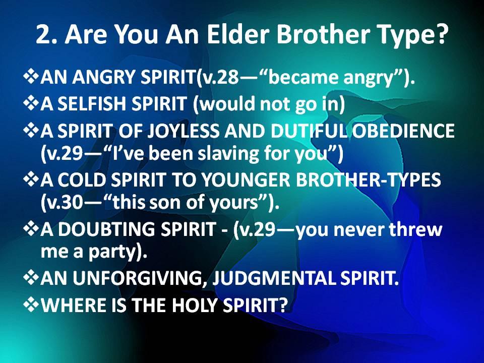 Elder Brother Types