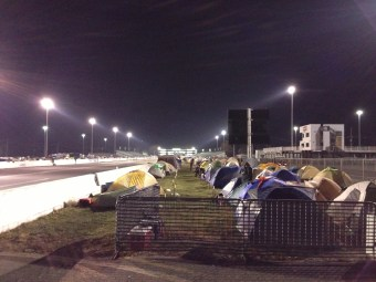 More tents...8 rows deep