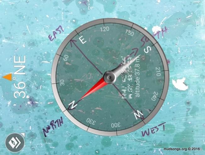Compass view through my Adnoid compass app. (Dec. 08, 2016.)