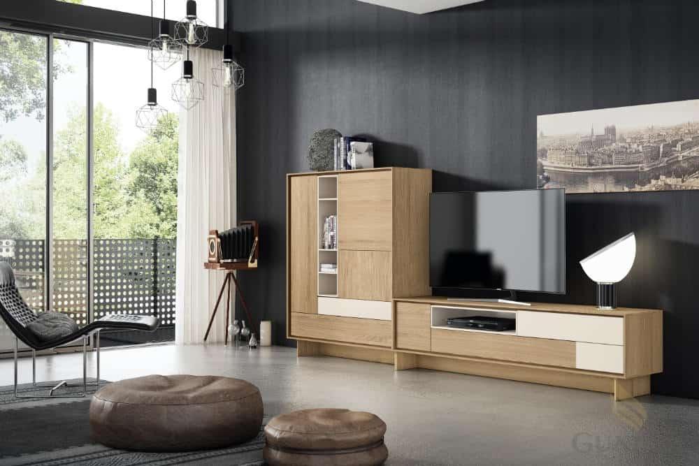 Mueble de salón color madera