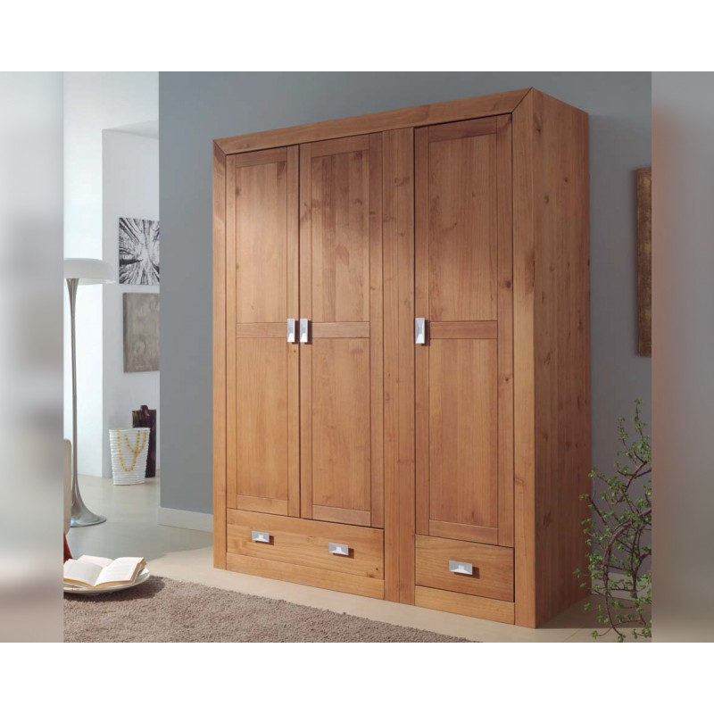 Armario de 3 puertas madera Baha