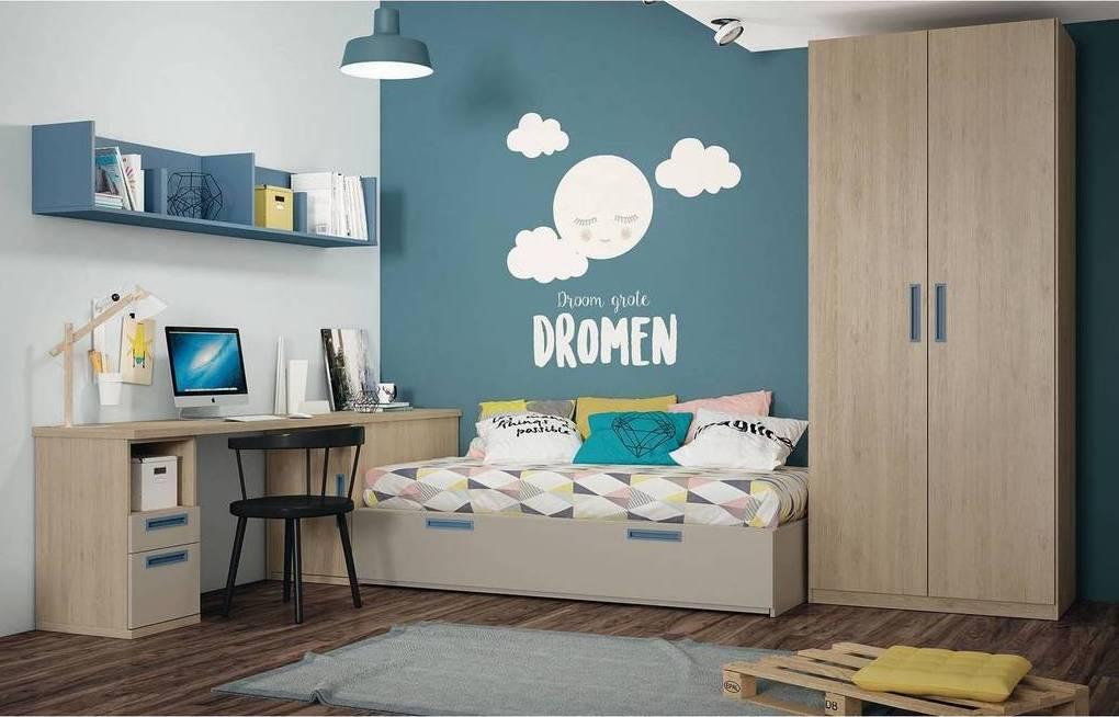Una buena opción, para optimizar el espacio, son los muebles con módulos.