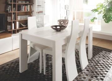 Mesa Comedor Blanco Y Gris | Comedor Salon Style Contemporaneo Color ...