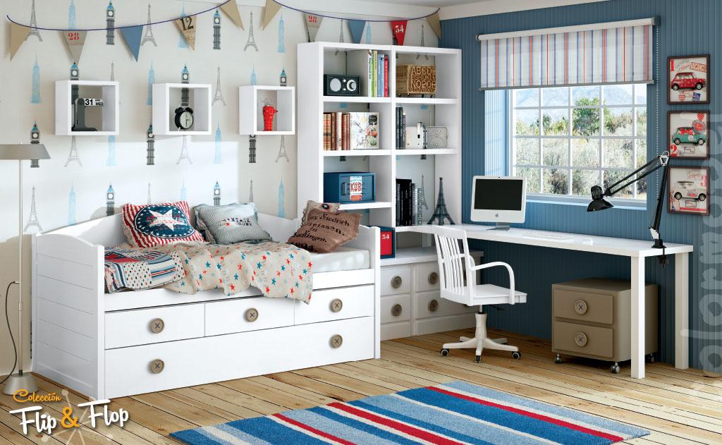 Dormitorios juveniles Colonial madera  Muebles Ibez