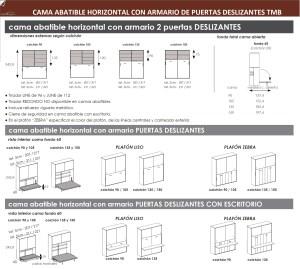 TÉCNICO CAMA ABATIBLE HORIZONTAL CON ARMARIO DE PUERTAS DESLIZANTES DORMITORIOS JUVENILES TMB