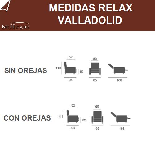medidas sillon relax valladolid orejas electrico-manual