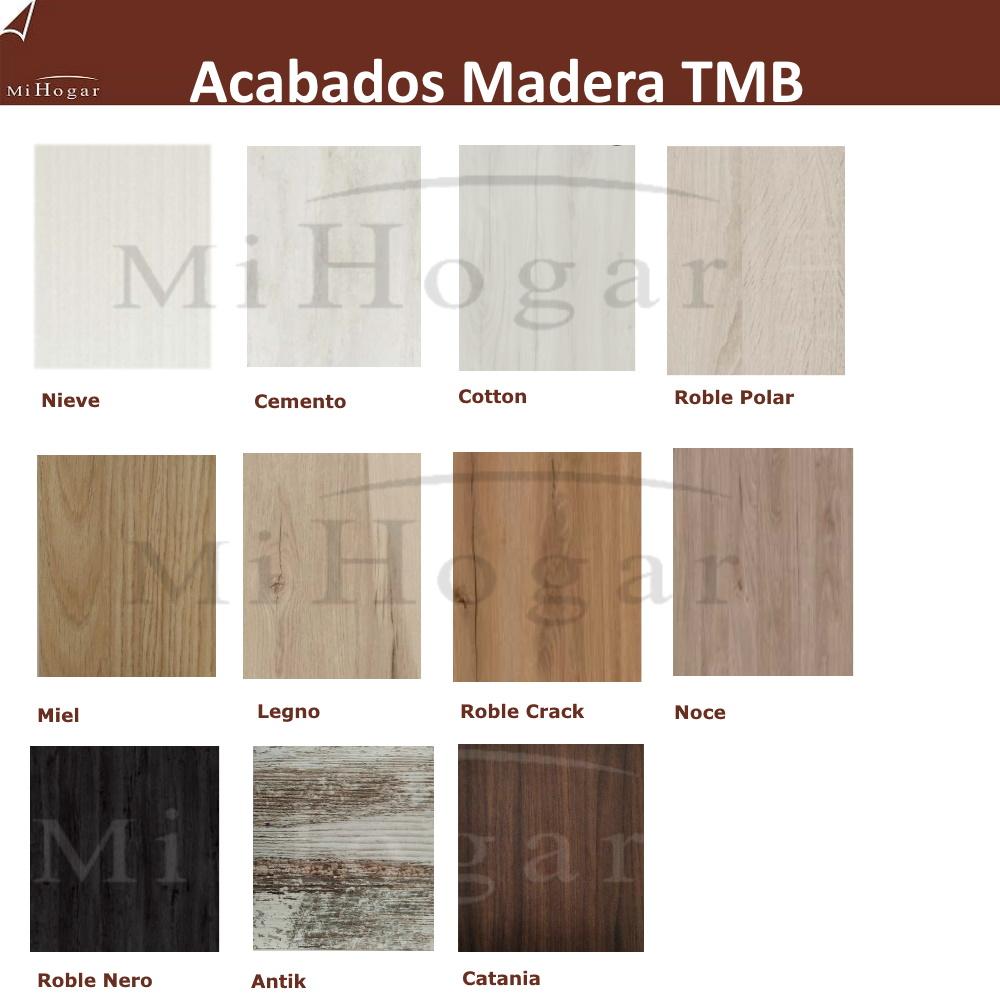 muestras acabados madera TMB