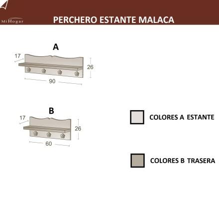 MEDIDAS PERCHERO ESTANTE MALACA