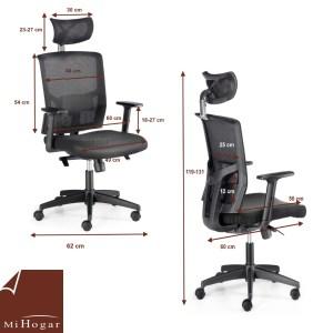 medidas silla oficina lumbar reposacabezas computer