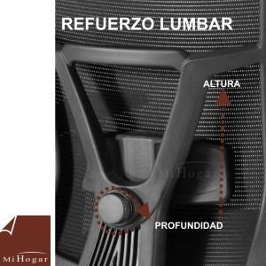 refuerzo lumbar regulable 3d silla oficina ergonomic reposacabezas