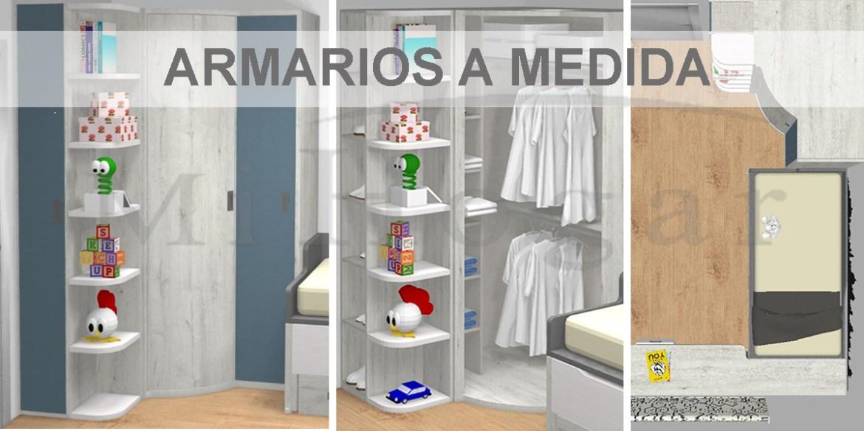 habitaciones con armarios esquineros