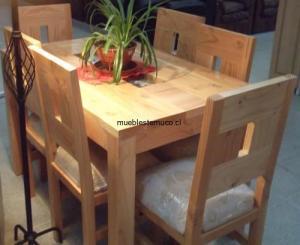 juego de comedor de madera