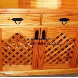 mueble rack de madera