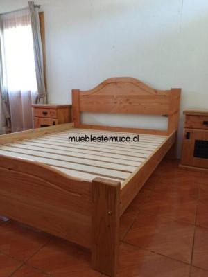 cama fabricada en madera