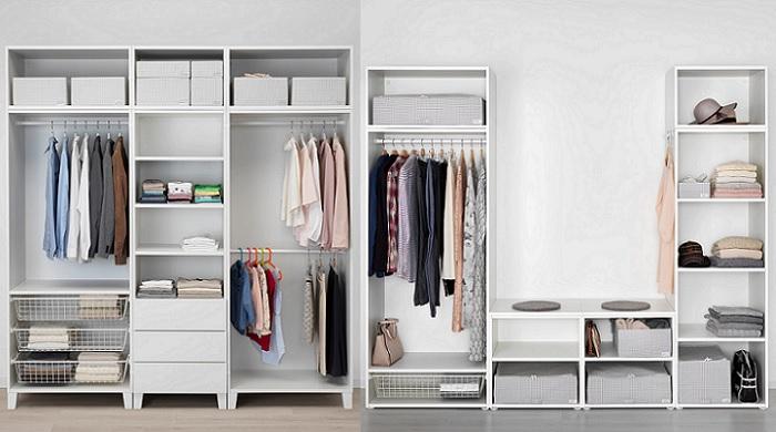 Los armarios abiertos Ikea para crear un vestidor en tu